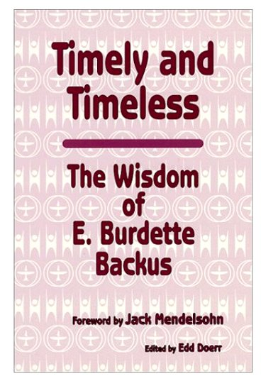 Image for Timely and Timeless :  The Wisdom of E. Burdette Backus