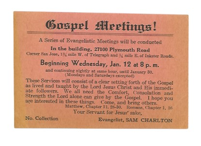 Image for Gospel Meetings ! :  A Series of Evangelistic Meetings, Redford, Michigan, 1944