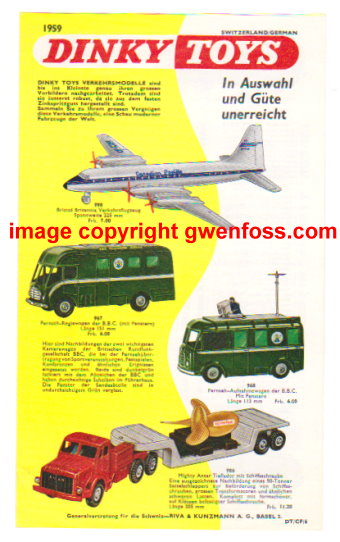Image for Dinky Toy Catalog 1959 :  German Edition (Switzerland and Germany)