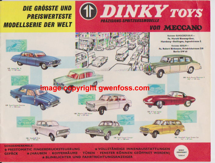 Image for Dinky Toys von Meccano :  Prazisions Spritzgussmodelle, West German Edition, 1964