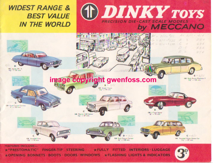 Image for Dinky Toys :  Precision Die Cast Scale Models by Meccano, UK Edition, 1964