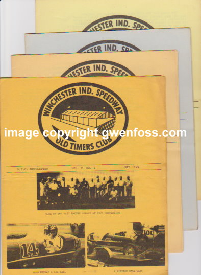 Image for Winchester Indiana Speedway Old Timers Club :  Lot of 4 Issues, 1976-1978