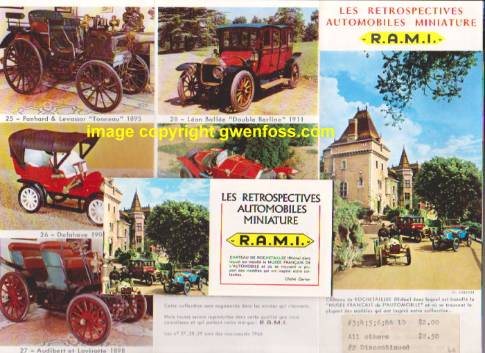 Image for R. A. M. I. Les Retrospectives Automobiles Miniature, 1968 :  RAMI by J. M. K., 1:43, 1/43 (Catalog and Ephemera)