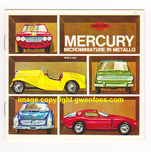 Image for Mercury 1969 :  Microminiature in Metallo, Scala 1:43