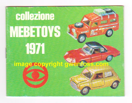 Image for Mebetoys Toy Catalog 1971, Collezione Mebetoys :  Die Cast Metal Toys, 1: 43 Scale Model Cars, Mattel