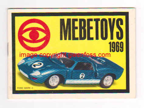 Image for Mebetoys Toy Catalog 1969 :  Die Cast Metal Toys, 1:43 Scale Model Cars