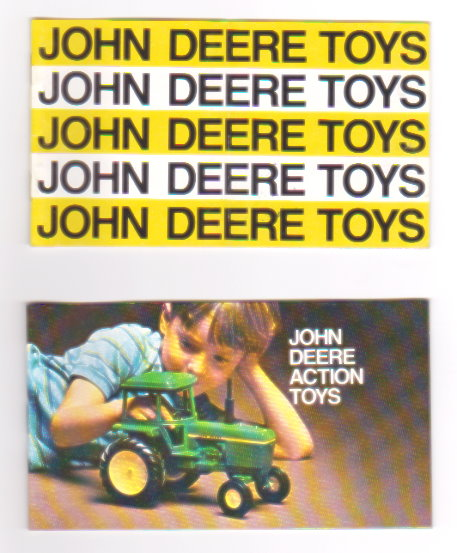 Image for John Deere Toys ;  Lot of 2 Catalogs, 1970, 1972