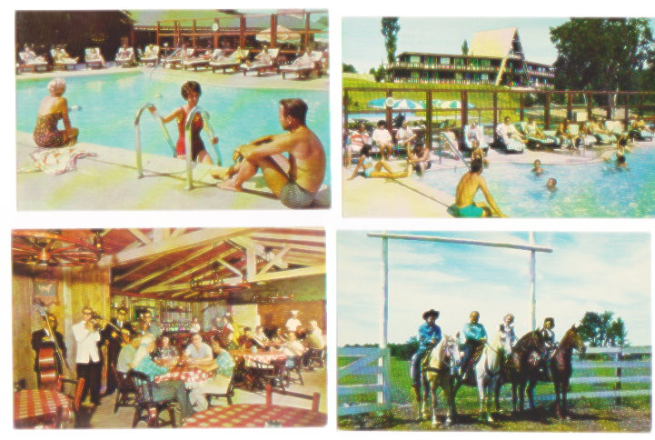 Image for Gay El Rancho, Gaylord, Michigan :  Lot of 9 Postcards, 1960s (El Rancho Stevens Resort)