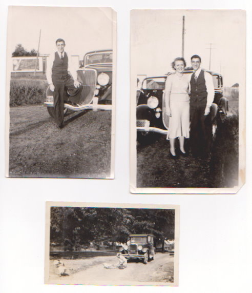 Image for Old Family Photos with Automobiles :  Herman Rohr, Bernita Rohr