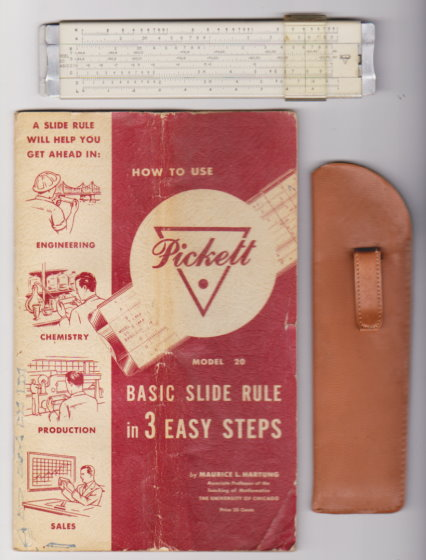 Image for How to Use the Pickett Model 20 Basic Slide Rule :  In 3 Easy Steps (Book and Slide Rule Set) 1955
