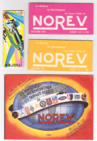 Image for Norev :  Lot of 8 Catalogs and Ephemera