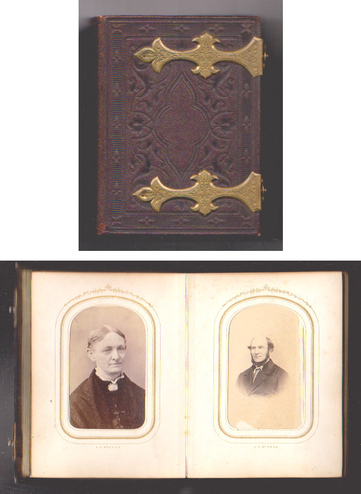 Image for Antique Leather Bound Photo Album :  Pearl L. Sternberg Family of Buffalo, New York, Civil War Era