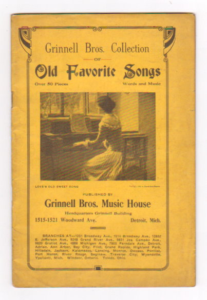 Image for Grinnell Brothers Collection of Old Favorite Songs :  Over 50 Pieces, Words and Music