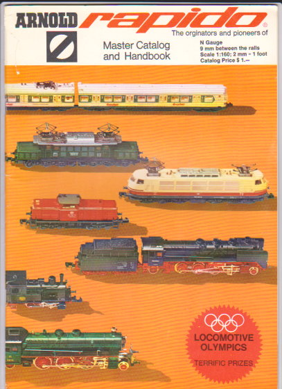 Image for Arnold Rapido, Master Catalog and Handbook, 1972 :  The Originators and Pioneers of N Gauge Small Scale Model Railroading