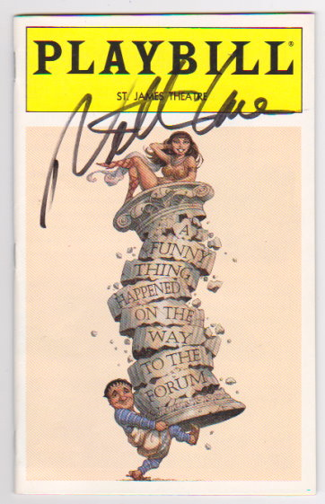 Image for Playbill, Volume 96, Number 6, June 1996 :  A Funny Thing Happened on the Way to the Forum (Signed by Nathan Lane)