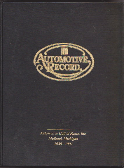 Image for Automotive Record :  Automotive Hall of Fame, Midland, Michigan, 1939-1991