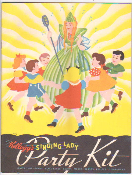 Image for Kellogg's Singing Lady Party Kit :  Invitation, Games, Place Cards, Favors, Masks, Verses, Recipes, Decorations