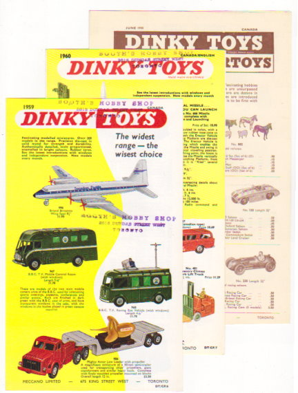 Image for Dinky Toys :  Lot of 16 Catalogs and Ephemera, 1955-1988