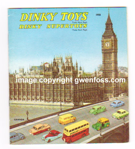 Image for Dinky Toy Catalog 1958 :  Dinky Supertoys, Australia, Reproduction by Model Collector Magazine