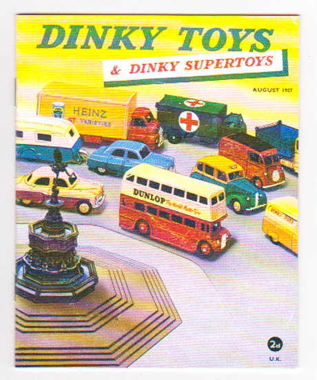 Image for Dinky Toy Catalog, August 1957 :  Dinky Supertoys, UK, Reproduction by Model Collector Magazine