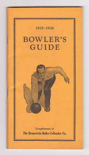 Image for Bowling, America's Passport to Health :  1935-1936 Bowler's Guide