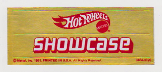 Image for Hot Wheels Showcase :  Stickers