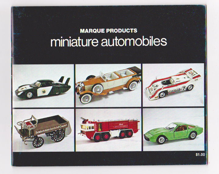 Image for Marque Products Miniature Automobiles