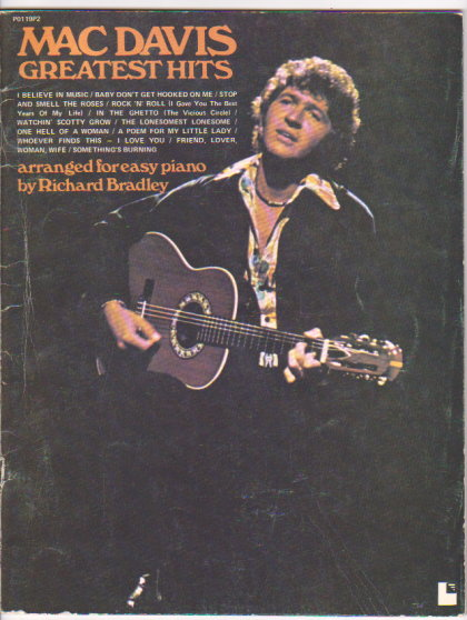 Image for Mac Davis, Greatest Hits :  Arranged for Easy Piano
