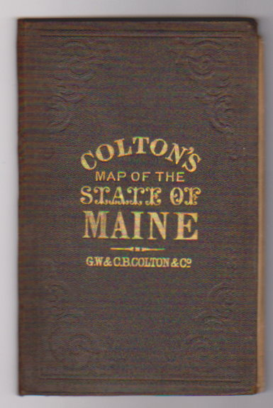 Image for Colton's Map of the State of Maine, 1874 :  Township Map of the State of Maine with Adjoining Portions of Canada and New Brunswick, 1874