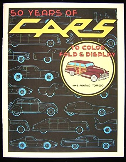 Image for 50 Years of Cars to Color, Fold and Display