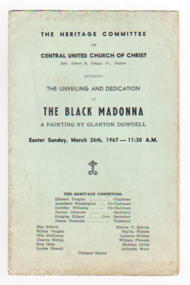 Image for Central United Church of Christ Presents :  The Unveiling and Dedication of the Black Madonna, a Painting by Glanton Dowdell