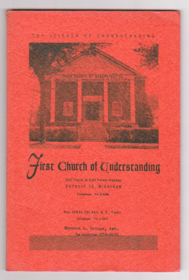 Image for First Church of Understanding :  Detroit, Michigan