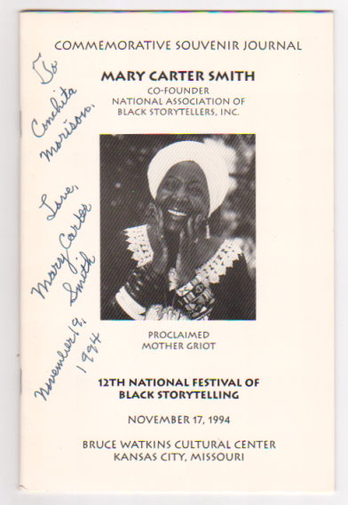 Image for Commemorative Souvenir Journal, Mary Carter Smith Proclaimed Mother Griot :  12th National Festival of Black Storytelling