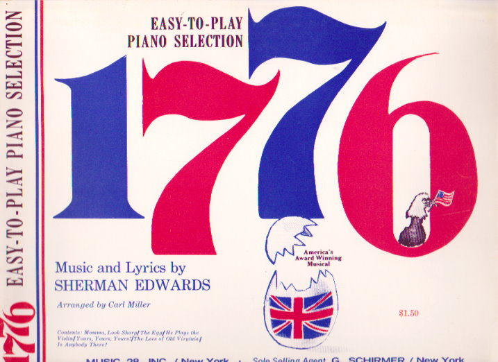 Image for 1776, America's Award Winning Musical :  Easy to Play Piano Selection