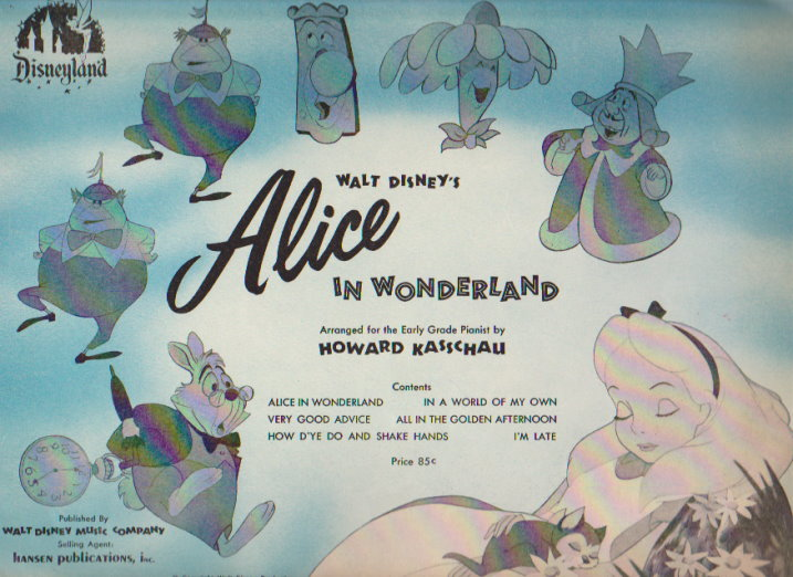 Image for Alice in Wonderland Disney Songbook :  Arranged for Early Grade Pianist