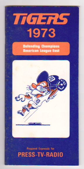 Image for Detroit Tigers Media Guide 1973 :  Defending Champions American League East