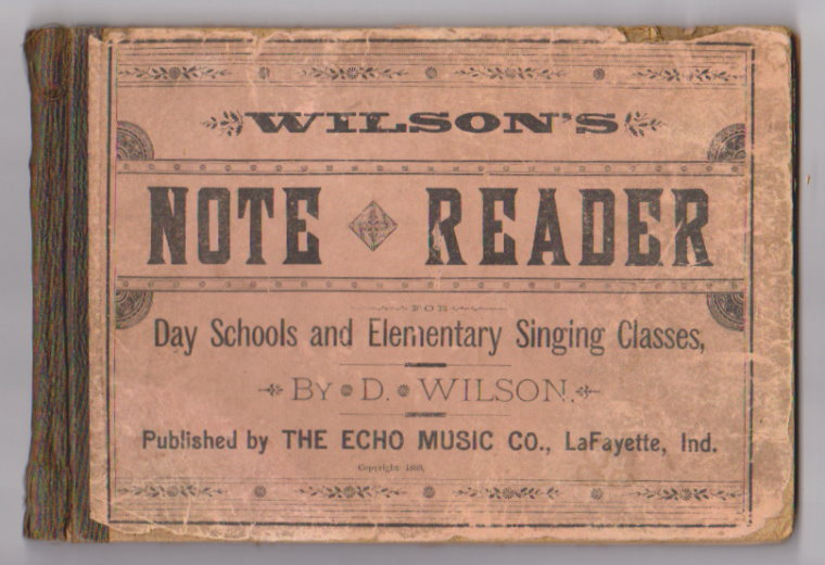 Image for Note Reader :  For Day Schools and Elementary Singing Classes (Wilson's Note Reader)