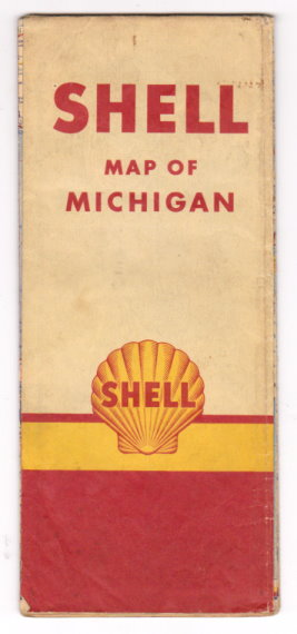Image for Michigan Road Map :  Shell Highway Map of Michigan, 1936