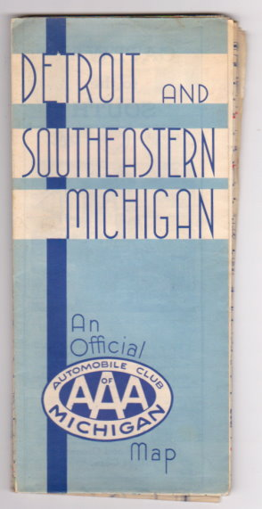Image for Detroit and Southeastern Michigan :  An Official Map of the Automobile Club of Michigan, 1938