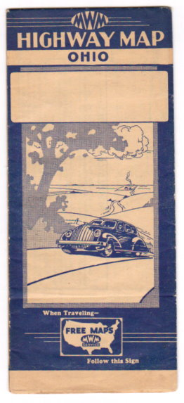 Image for Ohio Highway Map :  Official Road Map, Ohio, Nation Wide Map Service, 1935