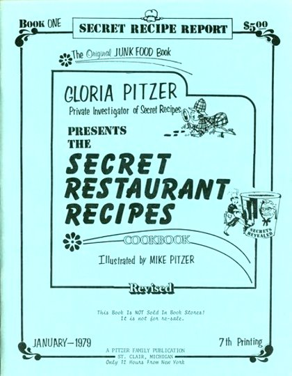 Image for Gloria Pitzer, Private Investigator of Secret Recipes, Presents (3 Volumes) :  1, Junk Food Book, Restaurant Recipe File ; 2, Second Helping of Secret Recipes ; 5, Secrets of Homemade Groceries