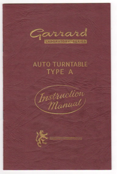 Image for Garrard Laboratory Series Auto Turntable Type A :  Instruction Manual