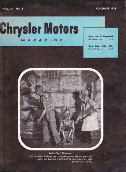 Chrysler Motors Magazine :  November 1948
