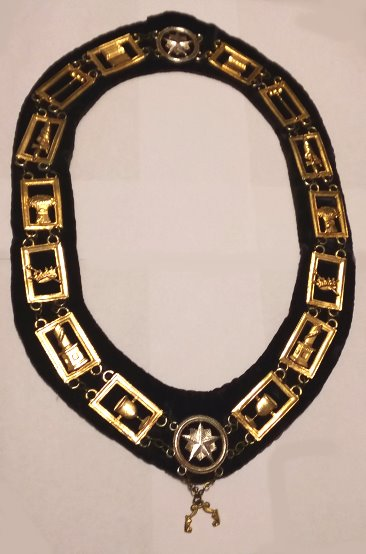 Image for Collar of Office, Chain Collar :  Insignia, Regalia, Livery, Jewelry, Order of the Eastern Star