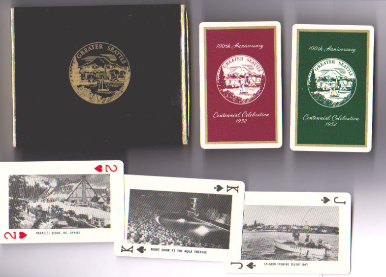 Image for Greater Seattle :  Remembrance, 100th Anniversary, Centennial, Set of Historical Playing Cards