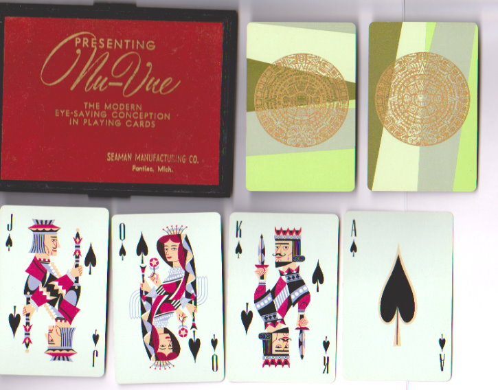 Image for Nuvue Vintage Pinochle Cards :  The Modern Eye Saving Conception, Box Set, Two Complete Decks