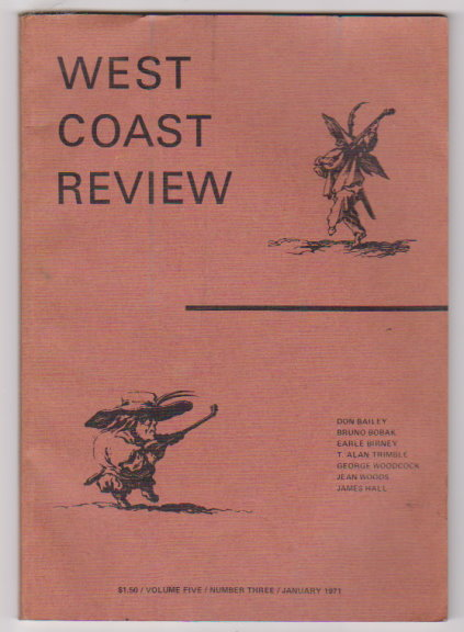 Image for West Coast Review, Volume 5, Number 3, January 1971 :  A Quarterly Magazine of the Arts