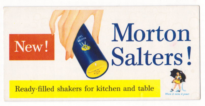 Image for New Morton Salters :  When it Rains it Pours (Advertising Blotter)