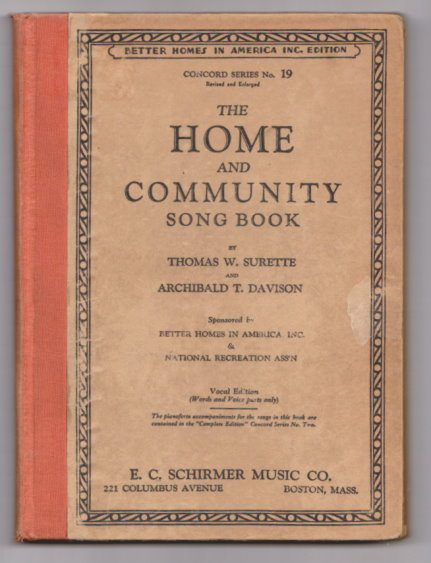 Image for Home and Community Song Book, The, Vocal Edition :  Concord Series Number 19