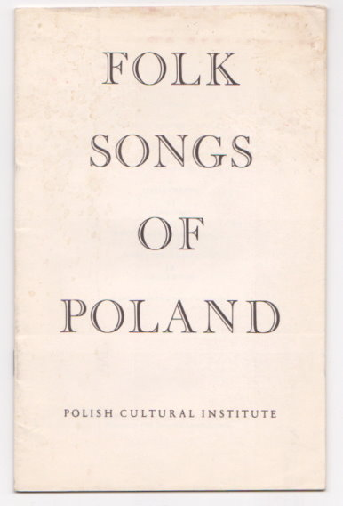 Image for Folk Songs of Poland